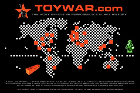 "Figure 13: etoy Corporation ""TOYWAR"" (1999-2000). Online intervention/performance"