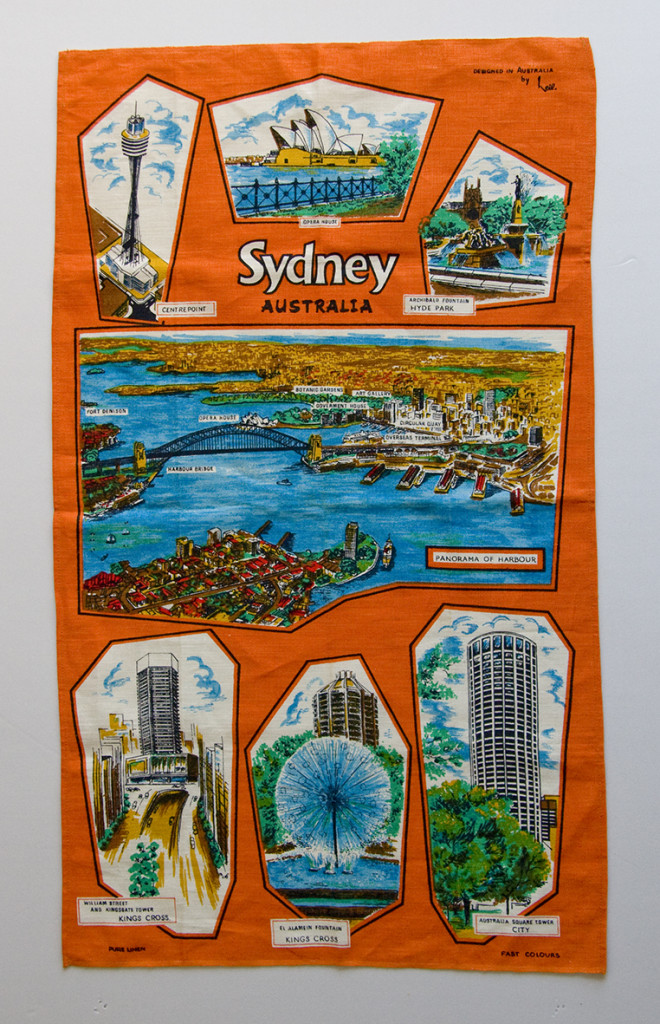Figure 8: Sydney souvenir tea towel, New South Wales. Designed in Australia by Neil, linen, circa 1970s.