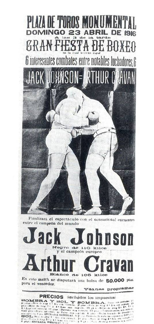 Figure 16: Poster from boxing match held in 1916 to decide which is more important, art (Arthur Cravan - artist) or sport (Jack Johnson - world heavyweight boxing champion). Dada gesture by Arthur Cravan.