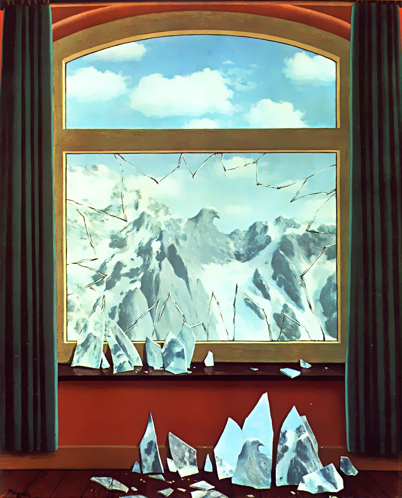 "Figure 29: Rene Magritte ""The Domain of Arnheim: 1949 oil on canvas 100 x 81cm"
