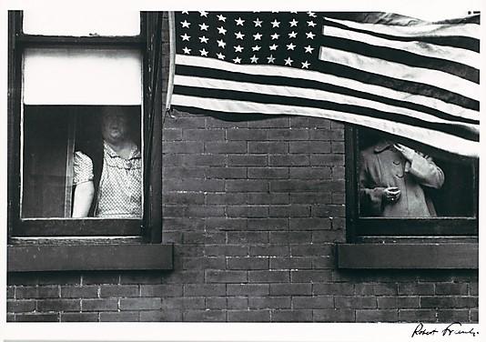 "Figure 2, Robert Frank, ""Parade - Hoboken, New Jersey"", 1955. Silver gelatin print. Private collection, San Francisco."