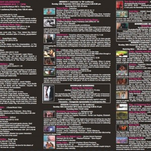 Figure 3. Queer Fruits Film Festival 2012 programme.
