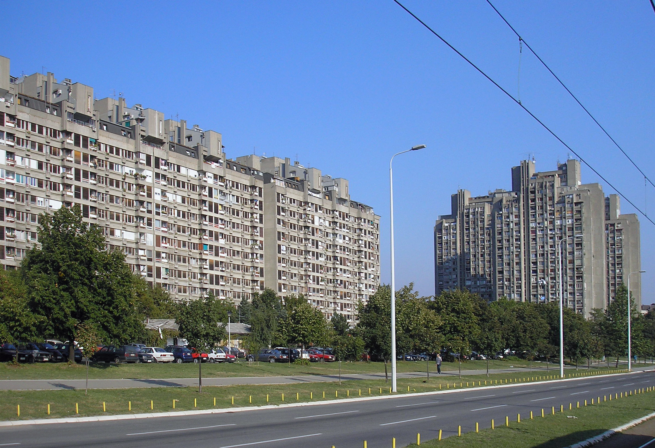Fig 5: Housing in block 23 by architects Aleksandar Stjepanović, Božidar Janković, Branislav Karadžić, 1974.