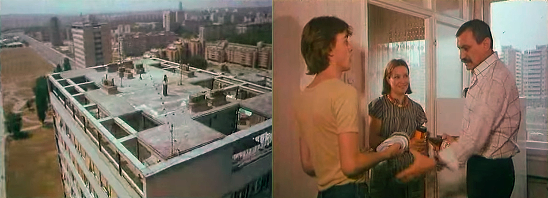 Fig 7: screenshots from the film Lude godine, 1977.
