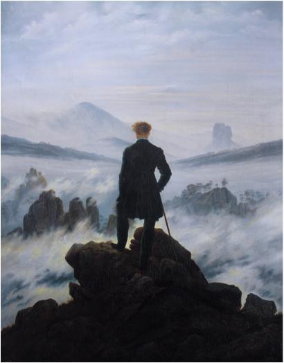 Figure 6. Caspar David Friedrich (1774 - 1840) Wanderer above the Sea of Fog, 1818 Oil-on-canvas, 98.4 cm × 74.8 cm Kunsthalle Hamburg, Germany