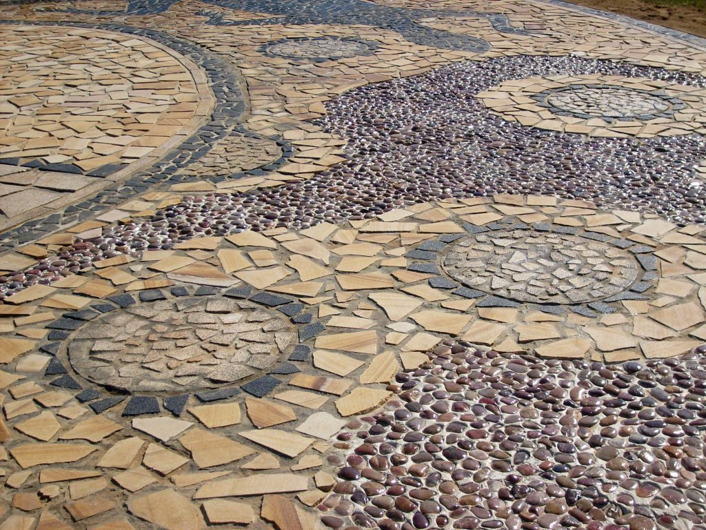 Figure: 7 Jessica Bulger and Tumut Community Bila Park Community Art Project Mosaic (detail) 2008 Granite and Sandstone Bila Park, Tumut, NSW